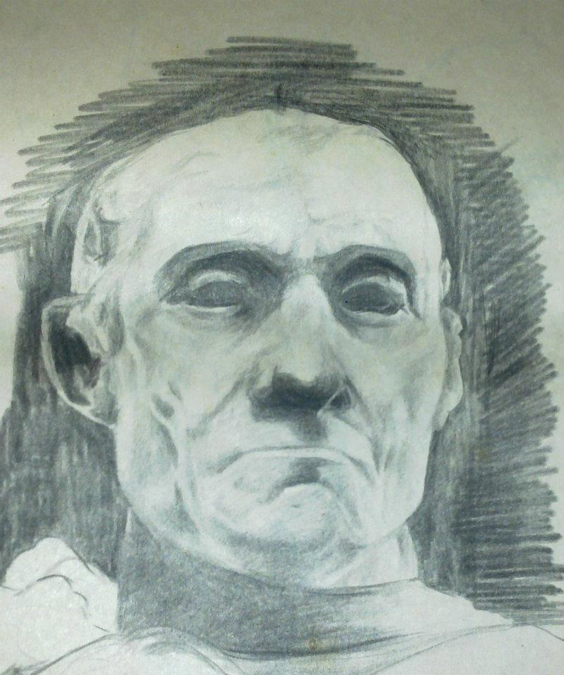 Study of a sculpture bust